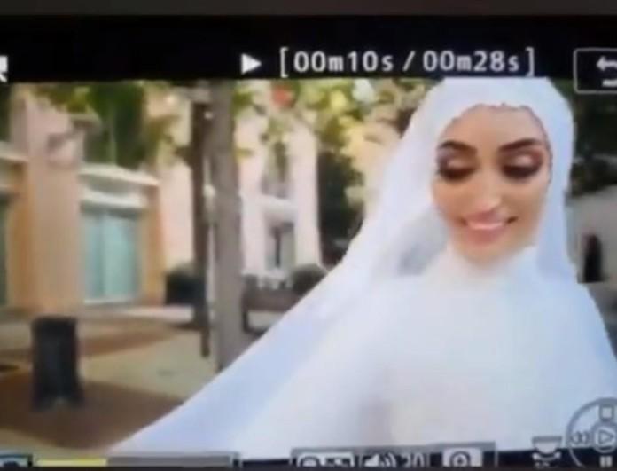 Βηρυτός: Συγκλονίζει το βίντεο από την έκρηξη - Νύφη έτρεχε να σωθεί