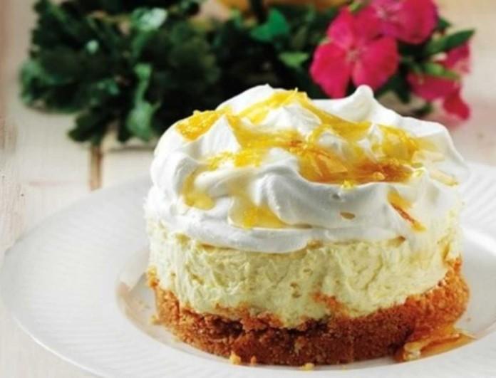 «Κολασμένο» γλυκό ψυγείου από την Αργυρώ Μπαρμπαρίγου - Τσιζκέικ με λεμόνι