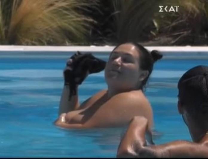 Big Brother: Τα πέταξε όλα έξω η Αφροδίτη - Έβγαλε το μαγιό της μπροστά σε όλους μέσα στην πισίνα