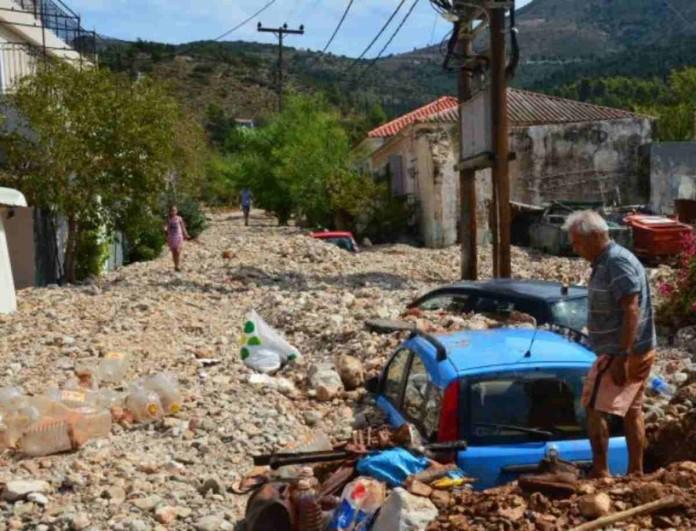 Κακοκαιρία Ιανός: Βιβλική καταστροφή στον Άσσο Κεφαλλονιάς