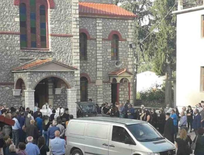 Μουζάκι: Θρήνος στην κηδεία της φαρμακοποιού που έπεσε θύμα του «Ιανού»