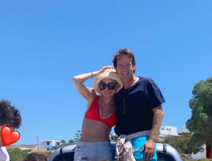 Ερωτικό ταξίδι για Ελένη Μενεγάκη και Ματέο Παντζόπουλο - Φεύγουν από την Άνδρο για να πάνε στα...