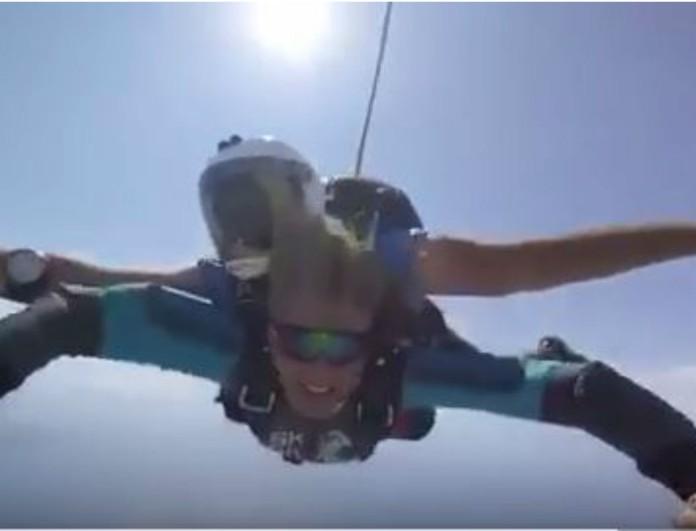 Σάσα Σταμάτη: Έκανε ελεύθερη πτώση από τα 12.000 πόδια - Αποκλειστικές φωτογραφίες και βίντεο!
