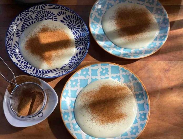 Η Αργυρώ Μπαρμπαρίγου έφτιαξε την πιο νόστιμη σπιτική κρέμα βανίλια με κανέλα