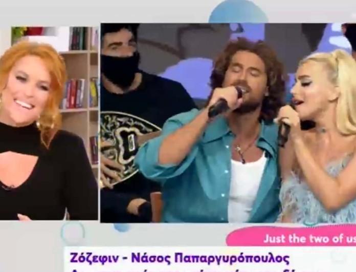 Αμήχανοι στον αέρα του OPEN Ζόζεφιν - Παπαργυρόπουλος: Η ερώτηση για την σχέση τους