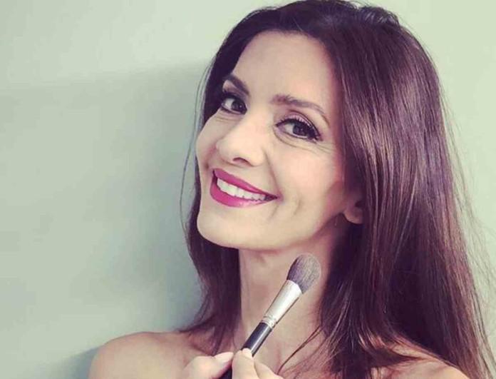 Με μαγιό και χωρίς ίχνος μακιγιάζ η Κατερίνα Λέχου - Έκανε ζουμ στο πρόσωπο της και...