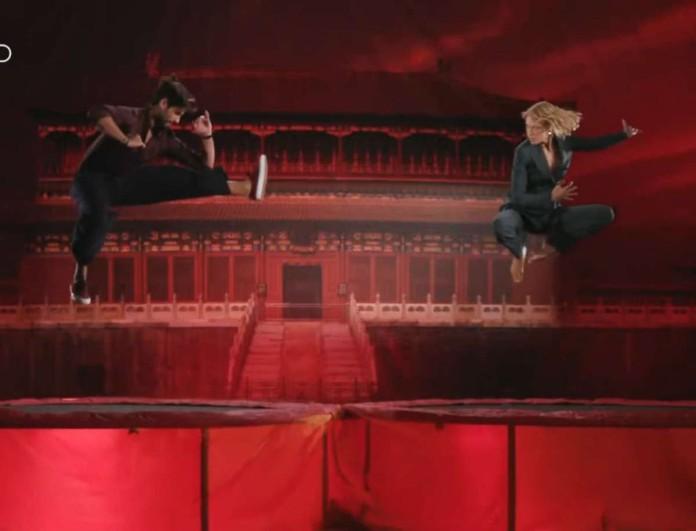 GNTM 3: Βίκυ Καγιά και Καράβας σε ρόλο μαχητών πάνω σε τραμπολίνο