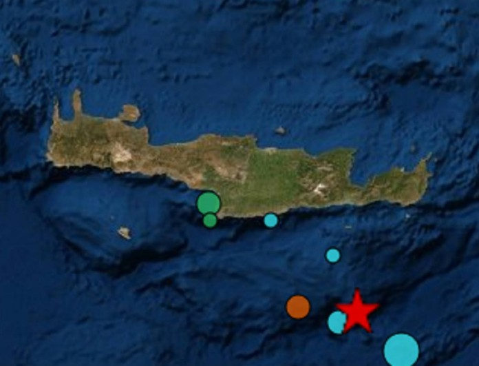 Σεισμός ξεσήκωσε την Κρήτη πριν λίγο