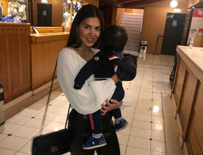 Η τρυφερή φωτογραφία της Σταματινάς Τσιμτσιλή με τον γιο της και η απίθανη ατάκα του για τον κορωνοϊό