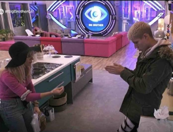 Big Brother: Η άβολη ερώτηση της Άννας Μαρίας στον Θέμη -