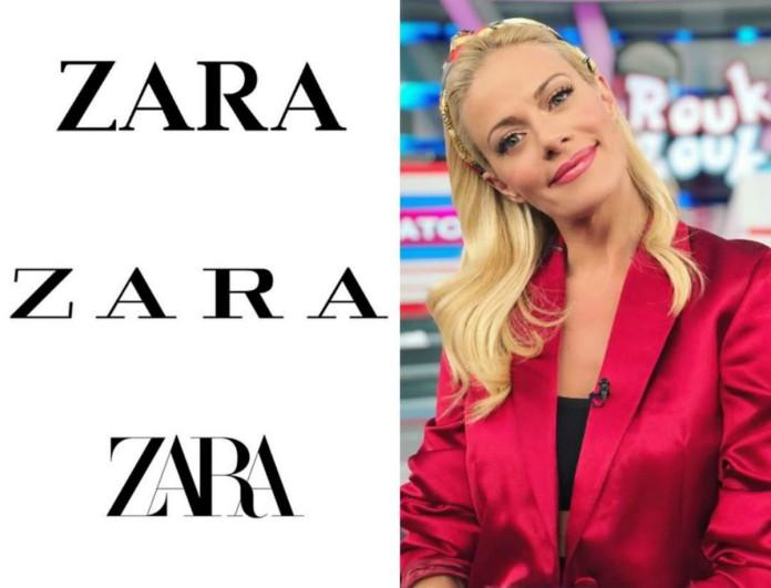 Στις νέες παραλαβές των Zara αυτή η φούστα της Ζέτας Μακρυπούλια - Κοντεύει να εξαντληθεί
