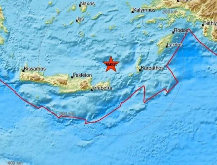 Σεισμός στην Κρήτη - Λαχτάρισαν τα ξημερώματα οι κάτοικοι