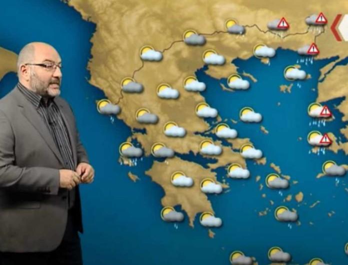 Προειδοποιεί ο Σάκης Αρναούτογλου - Συναγερμός το επόμενο 48ωρο σε αρκετές περιοχές