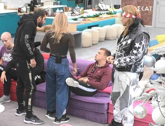 Big Brother: Πήγαν να πιαστούν στα χέρια Κεχαγιάς - Βαρουξής - «Άμα σου δώσω κανά χαστούκι»