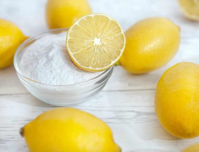 Ρίξε λεμόνι στην μαγειρική σόδα και