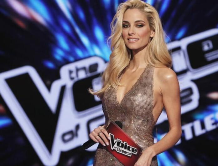 Δούκισσα Νομικού: Η λαμπερή εμφάνισή της στο πρώτο live του The Voice