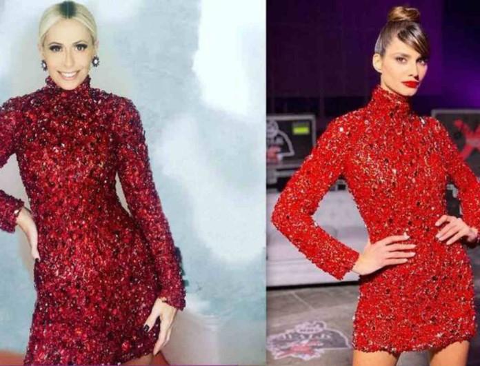 Παπαγεωργίου και Μπακοδήμου φόρεσαν το ίδιο φόρεμα! Ποια το υποστήριξε καλύτερα;