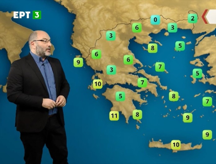 Σάκης Αρναούτογλου: «Τα χιόνια στην Αττική θα κρατήσουν μέχρι το ξημέρωμα»