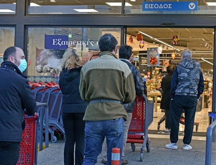 Κακοκαιρία Μήδεια: Αλλαγή στο ωράριο λειτουργίας των σούπερ μάρκετ