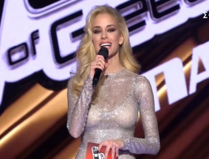 The Voice: Η λαμπερή εμφάνιση της Δούκισσας Νομικού στον μεγάλο τελικό