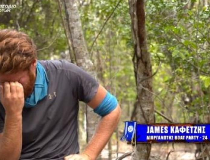 Survivor 4: Σπάραξε ο Τζέιμς για την αποχώρηση της Άννας Μαρίας
