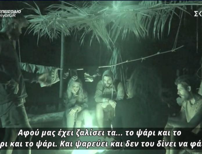 Survivor 4 - Παππάς κατά του Κόρο - «Μας έχει ζαλίσει τα.. με το ψάρι και το ψάρι»