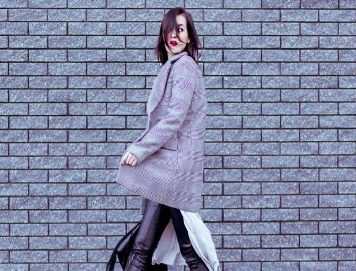 street style καρό blazer