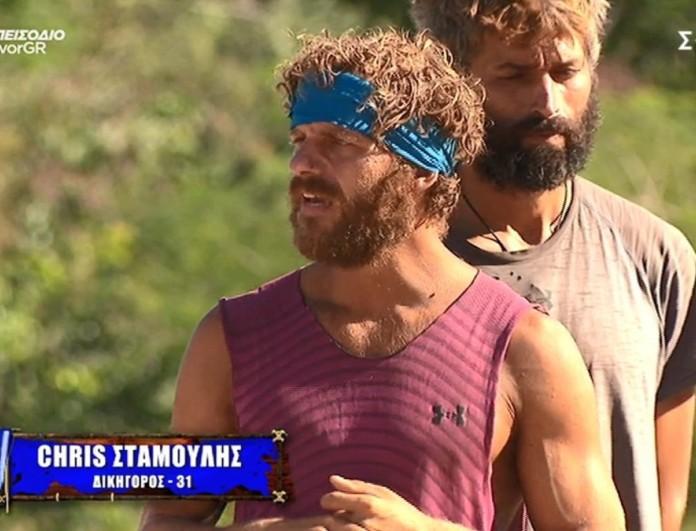 Survivor 4: Εκτός αγωνίσματος Κρις και Αλέξης - «Δε θα παίξω για τον Τζέιμς που τον νοιάζει ο εαυτός του»