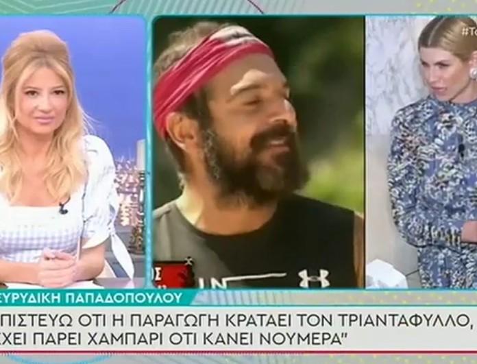 Ευρυδίκη Παπαδοπούλου: «Μου χρωστάνε διότι μέσω της διαμάχης μας, ο Τριαντάφυλλος βγήκε από την αφάνεια»