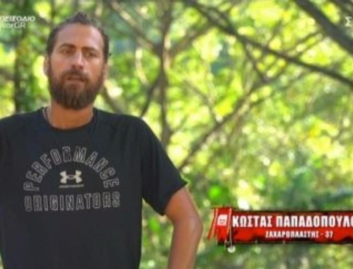 Survivor 4 - Κώστας: «Ο Μπάρτζης είναι το πίτμπουλ του Τζέιμς»