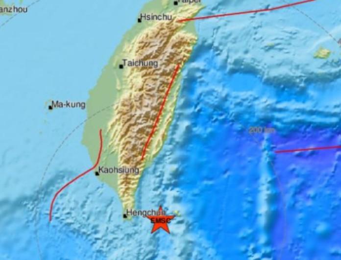 Σεισμός τώρα 5,5 Ρίχτερ στην Ταϊβάν