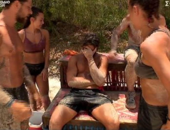 Survivor 4: Λύγισε ο Ασημακόπουλος την ώρα του αγώνα