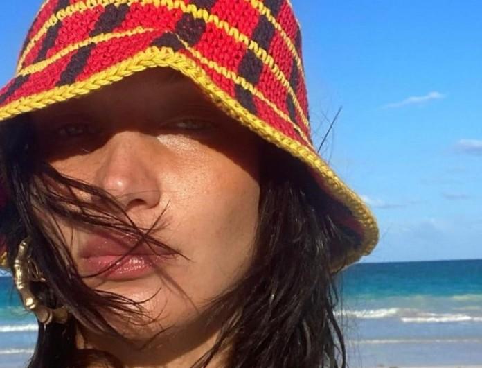 Πλεκτό καπέλο Bella Hadid