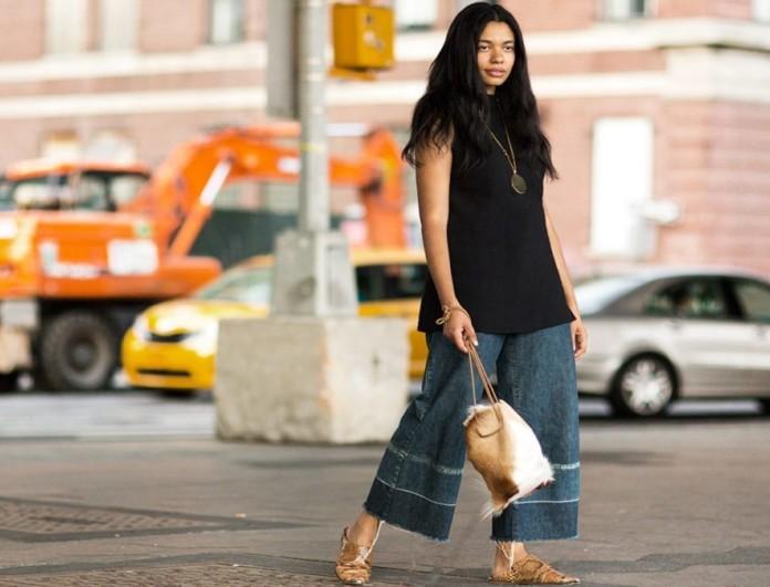 wide pants street style