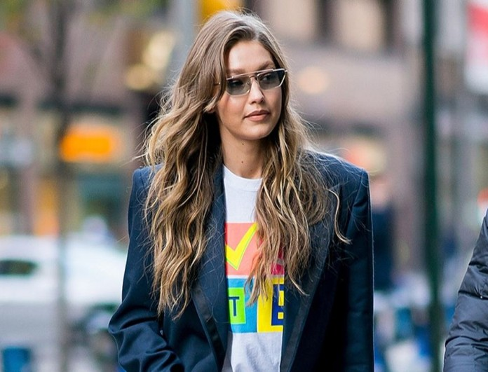 Gigi Hadid street style blazer
