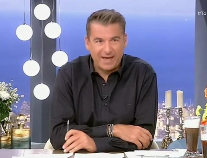 Γιώργος Λιάγκας: «Η Ελένη Μενεγάκη φέρνει λεφτά στα κανάλια και γι' αυτό τα παίρνει κιόλας»