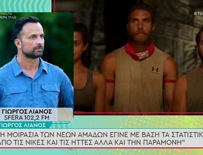 Survivor 4 - Λιανός: «Ο χωρισμός των ομάδων έγινε βάσει στατιστικής»