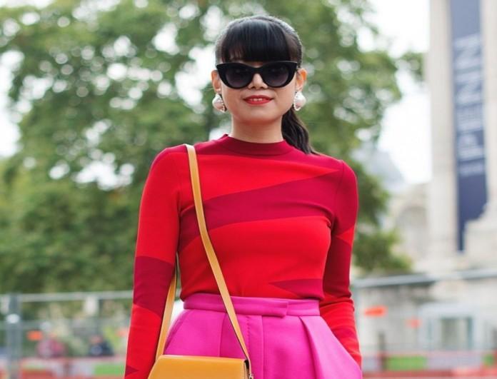 Ροζ και κόκκινο στο street style