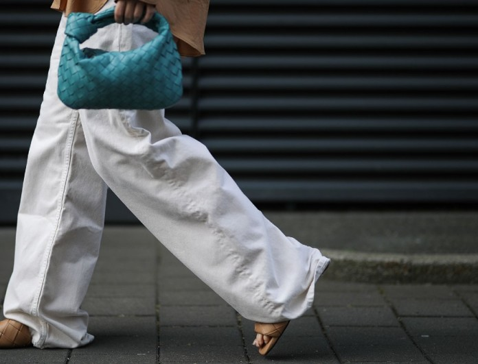 Baggy denim λευκό street style