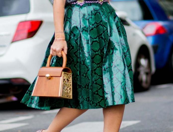 φούστα με animal prints street style