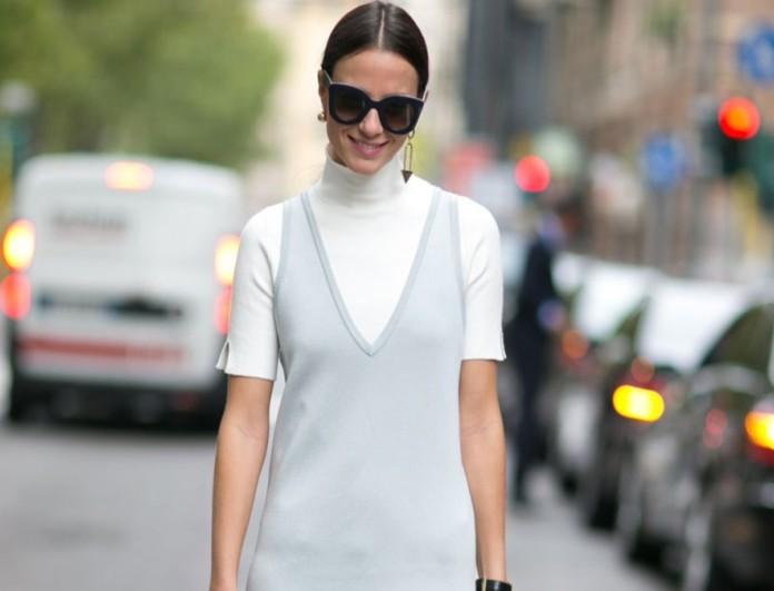Πλεκτό φόρεμα street style