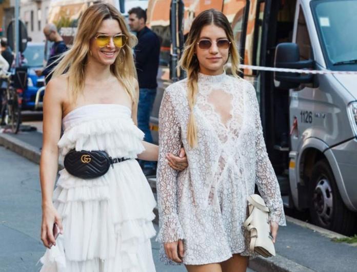 λευκό glam φόρεμα street style
