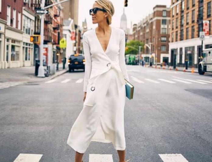 Κρουαζέ φόρεμα street style