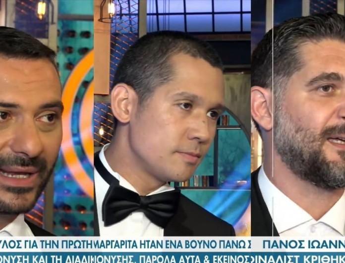 MasterChef 5: Οι πρώτες δηλώσεις Κοντιζά, Κουτσόπουλου, Ιωαννίδη μετά τον τελικό