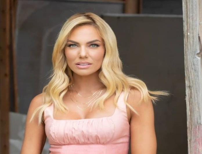 Ιωάννα Μαλέσκου ροζ look