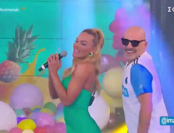 Καλό Μεσημεράκι: Η Ιωάννα Μαλέσκου εισέβαλε στο πλατό τραγουδώντας Κωνσταντίνο Αργυρό