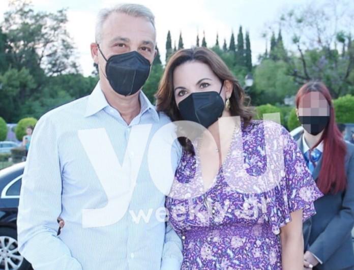 Όλγα Κεφαλογιάννη: Η δημόσια εμφάνιση της εγκυμονούσας στο πλευρό του Μίνου Μάτσα