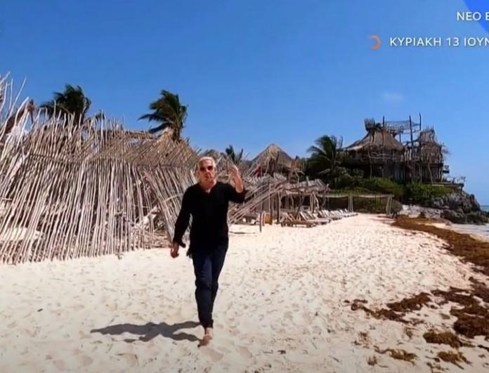 Εικόνες: Ο Τάσος Δούσης συνεχίζει το ταξίδι του στη Ριβιέρα των Μάγια