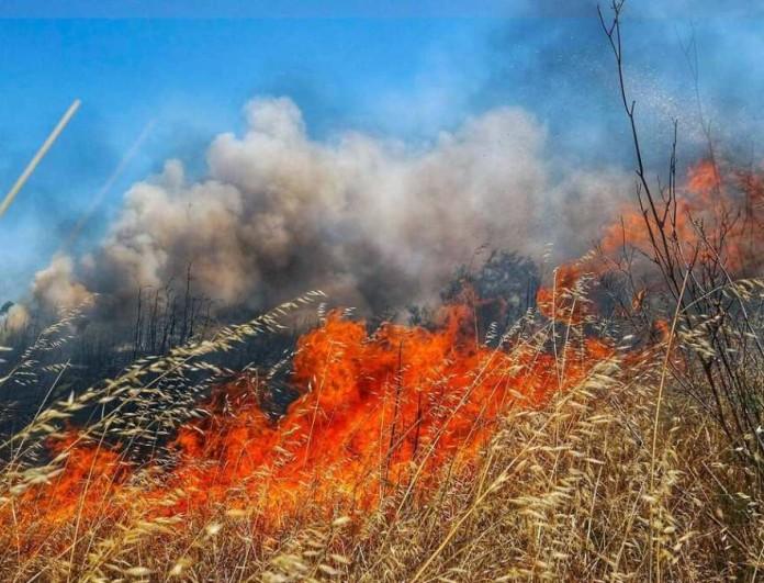 Τεράστια πυρκαγιά στην Χαλκιδική