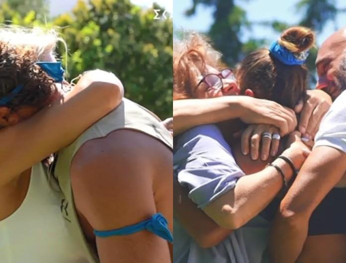 Survivor 4 - ημιτελικός: Όταν ο Κόρο και η Μαριαλένα συνάντησαν μετά από 7 μήνες τις οικογένειες τους